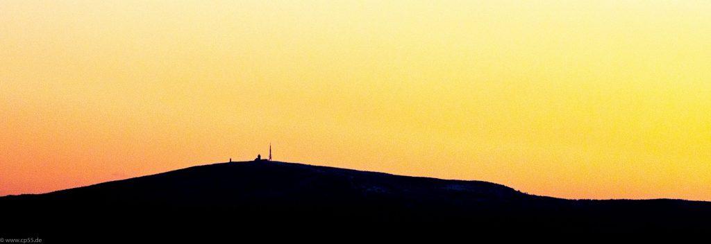 der Brocken im Morgenlicht
