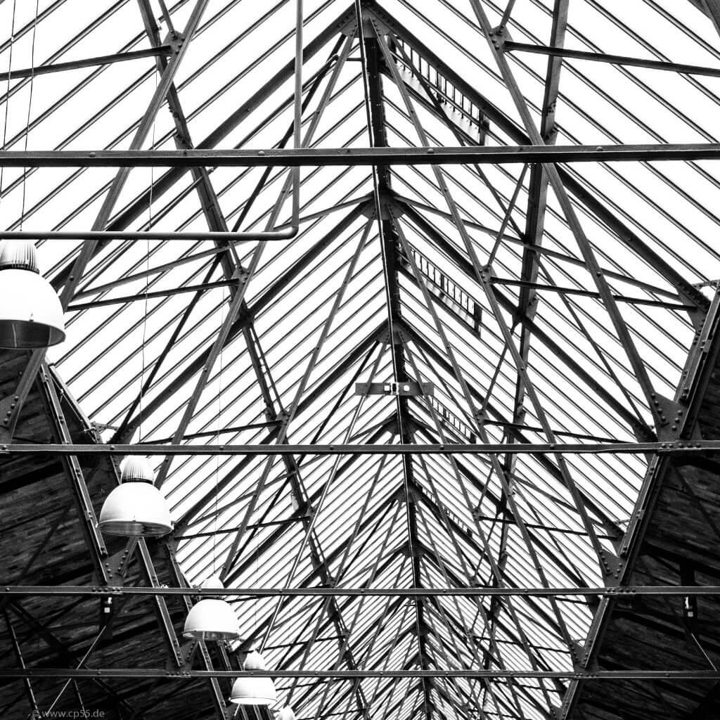 Stahlkonstruktion der Wiebehallen Berlin