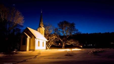 Holzkirche Elend im Januar