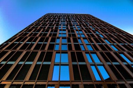 BraWo-Gebäude Braunschweig zur blauen Stunde