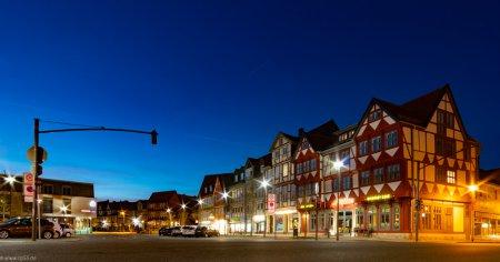 Holzmarkt Wolfenbüttel Schlüter Backerei Richter blaue Stunde Lichter