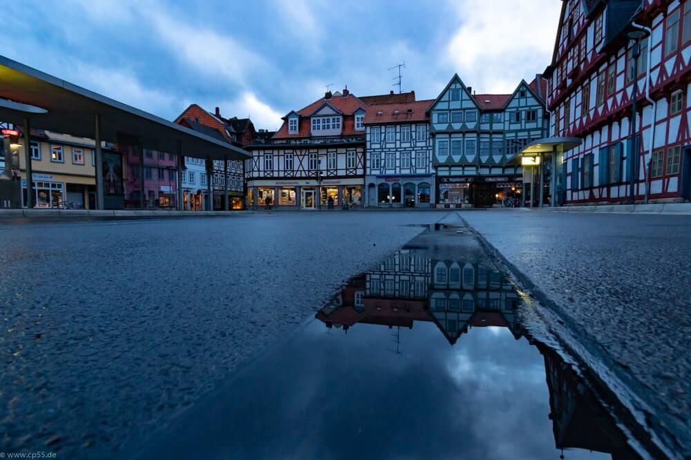 Spiegelung in der blauen Stunde Kornmarkt Wolfenbüttel