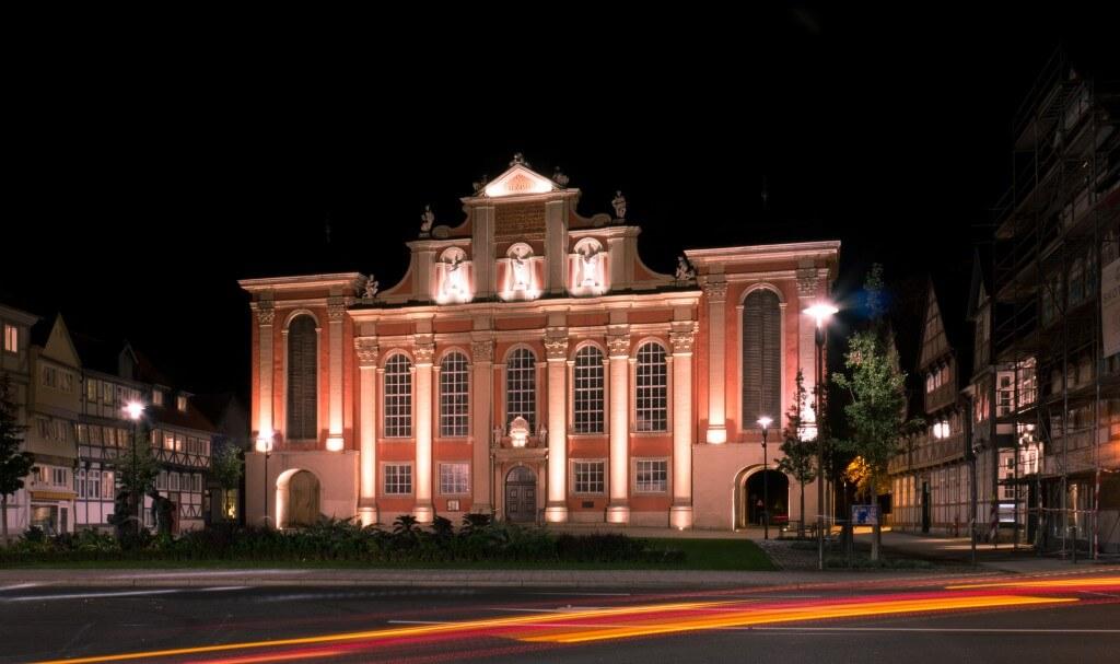 Trinitatiskirche Wolfenbüttel bei Nacht