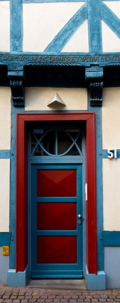 rote Tür Fachwerk Wolfenbüttel