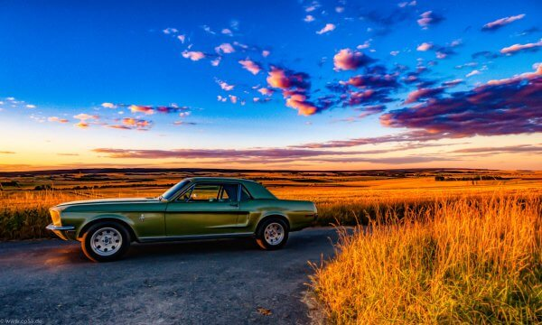 '68 Mustang in der Abendsonne