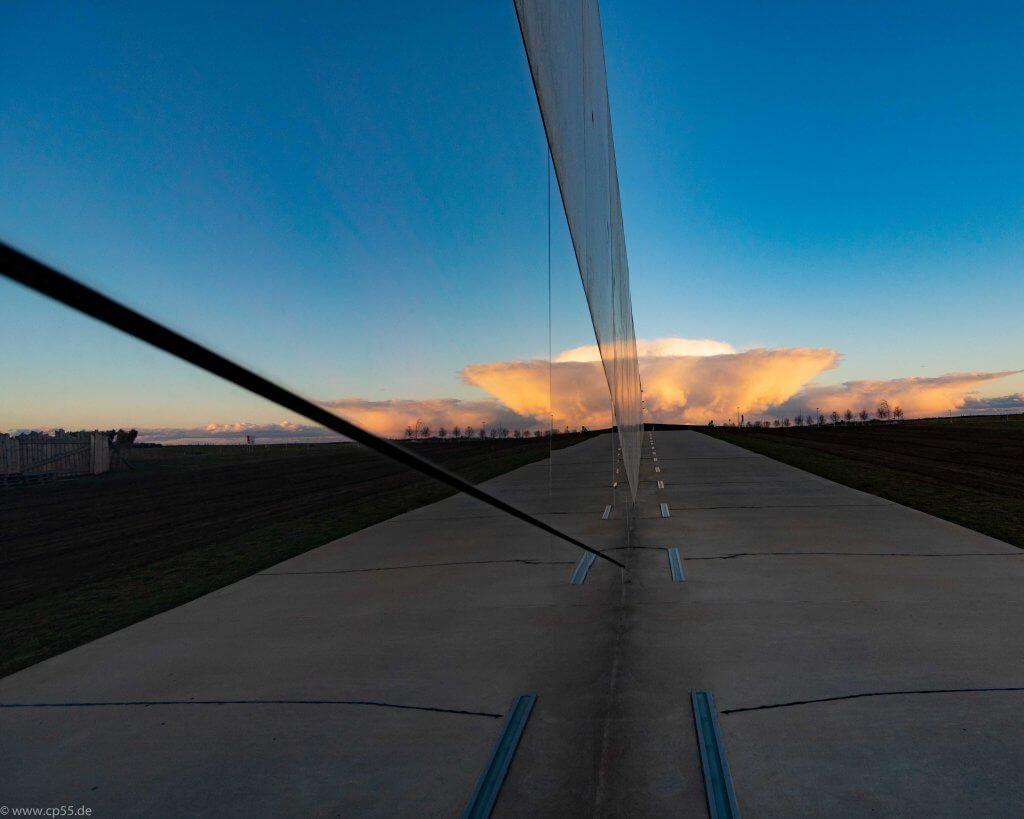Sonnenuntergang, Spiegelung im Paläon